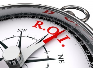 Roi Red Word On Concept Compass